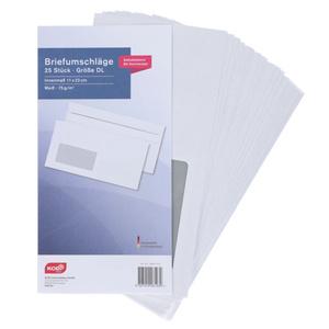 KODi Basic Briefumschläge mit Fenster 25 Stück