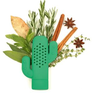 Kikkerland Gewürzsieb Kaktus grün