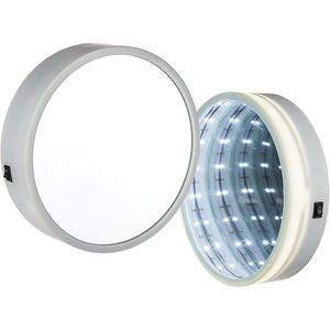 Wandspiegel Lights warmweiß 18 LEDs Ø20 cm batteriebetrieben