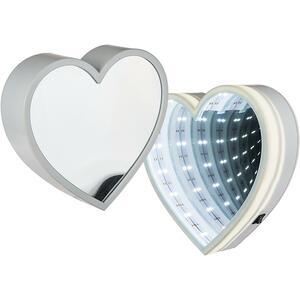 Wandspiegel Enlighted Heart warmweiß 18 LEDs Ø20 cm batteriebetrieben