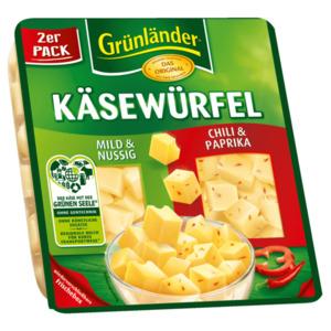 Grünländer Würfel Duo Nussig/Chili 120g