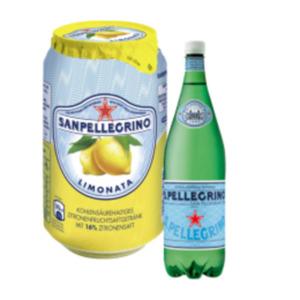 San Pellegrino Mineralwasser oder Limonaden