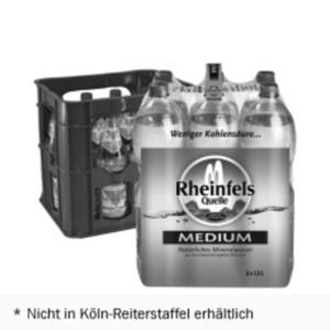 Rheinfels Quelle 6x1,5l PET oder Nürburg Quelle* 12x0,7l/0,75l Glas