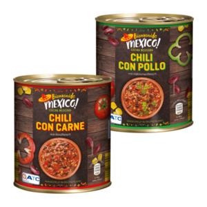 BIENVENIDO MEXICO     Chili con Carne / Chili con Pollo