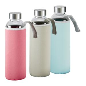 HOME CREATION     Glasflasche mit Schutzhülle