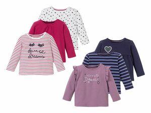 LUPILU® 3 Baby Mädchen Langarmshirts