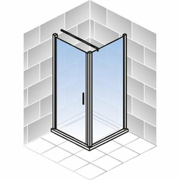 Schulte Drehtür und Seitenwand Varia Glas Chromoptik 190 cm x 90 cm x 90 cm