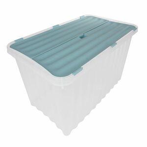 Wellenbox mit Klappdeckel 59x36x36cm 53 Liter Pastellgrün