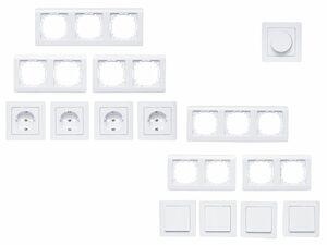 POWERFIX® 4 Steckdosen / 4 Wechselschalter / Dimmer