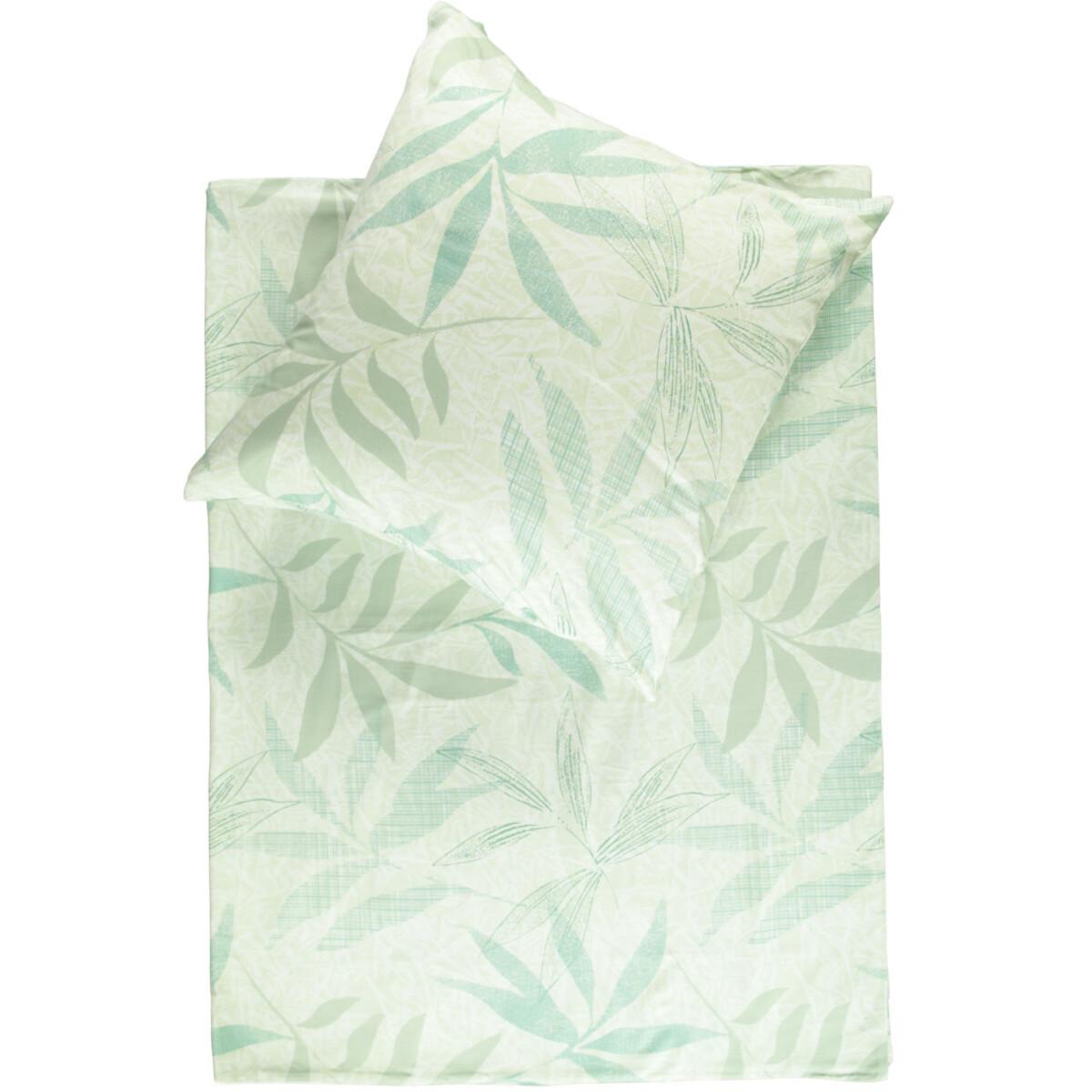 Bild 1 von Satinbettwäsche mit zartem Blättermotiv 135x200cm