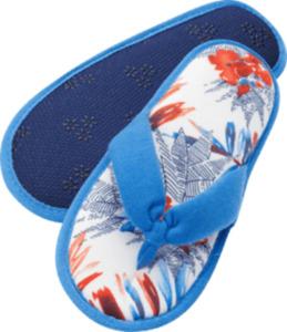 FASCÍNO Zehentrenner-Pantoffeln, blau/bunt Gr. 38