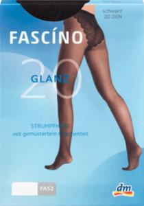 FASCÍNO Glanz-Strumpfhose 20 DEN, schwarz Gr. 38/40