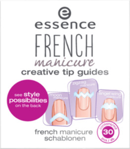 essence cosmetics Nageldesign french manicure creative tip guides from heaven with love 02