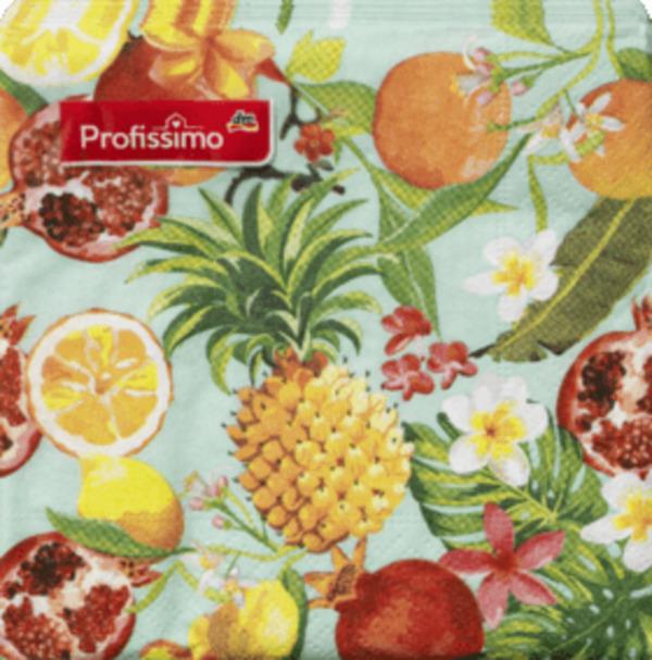 Profissimo Profissimo Serviette Exotische Früchte 25x25 (Sommer)
