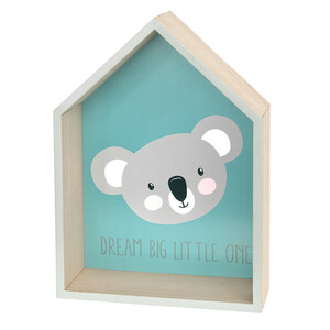 Dekohaus mit Koalabär-Motiv