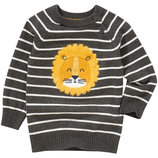 Baby Strickpullover mit Löwen-Applikation