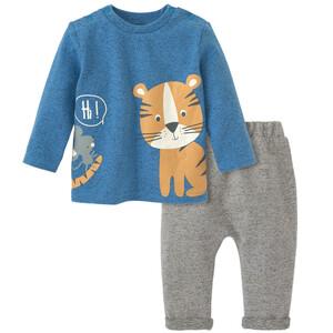 Newborn Sweatshirt und Hose mit Tier-Motiven
