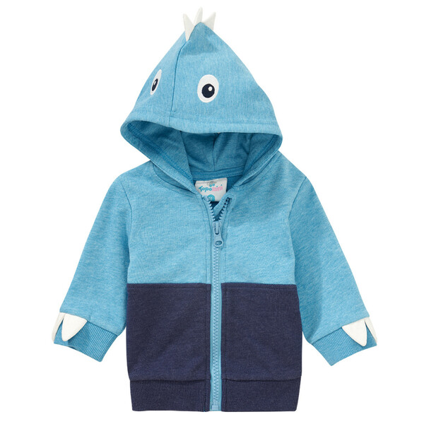 Newborn Sweatjacke mit Dino-Applikation