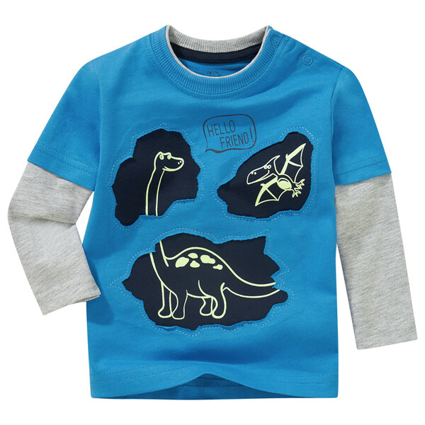 Baby Langarmshirt mit Glow-in-the-Dark-Effekt
