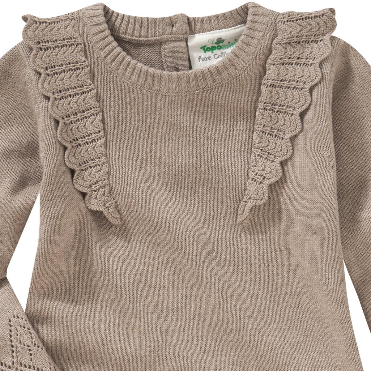 Bild 2 von Newborn Strickkleid mit Lochstickerei