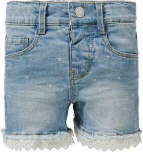 Jeansshorts NMFSALLI mit Spitze light blue denim Gr. 110 Mädchen Kleinkinder