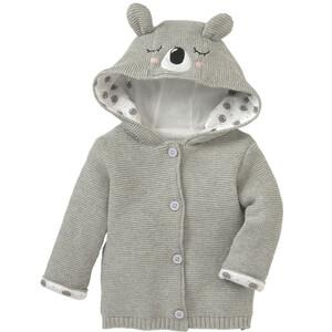 Newborn Strickjacke mit Koalabär-Applikation