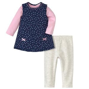 Newborn Kleid, Langarmshirt und Leggings
