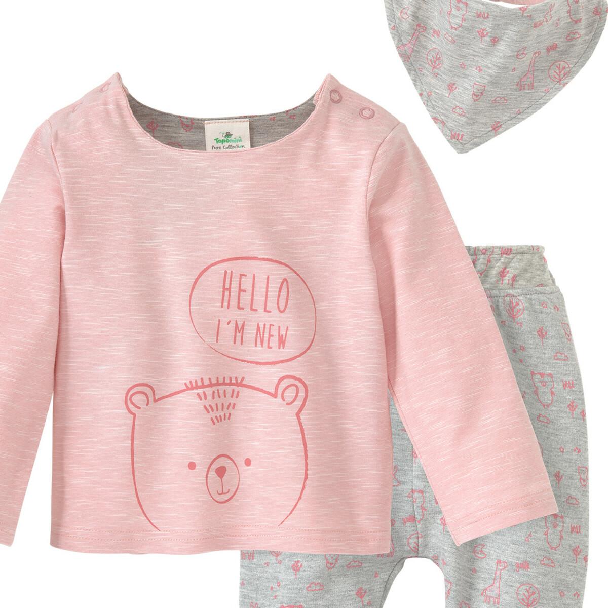 Bild 2 von Newborn Shirt, Hose und Bandana im Set