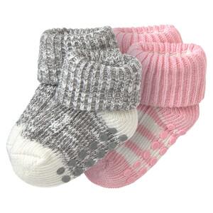 2 Paar Newborn Socken mit Umschlagbund