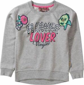 Sweatshirt NARLIE mit Patches grau Gr. 116 Mädchen Kinder