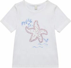 T-Shirt mit Pailletten weiß Gr. 104/110 Mädchen Kleinkinder