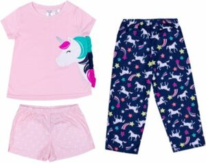 Schlafanzug , Einhörner rosa Gr. 92 Mädchen Kleinkinder