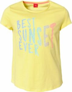 T-Shirt gelb Gr. 152/158 Mädchen Kinder