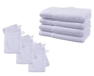 ONE WORLD®  4 Gästetücher oder 6 Waschhandschuhe