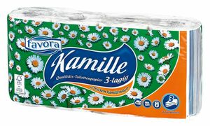 Favora Toilettenpoapier Kamille 3lg. 8x150 Blatt