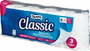 Favora 10 x 200 Blatt 3-lagig Toilettenpapier