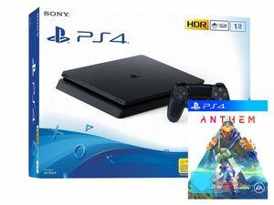 SONY Playstation 4 Slim - 1TB schwarz + Anthem (PlayStation 4)
