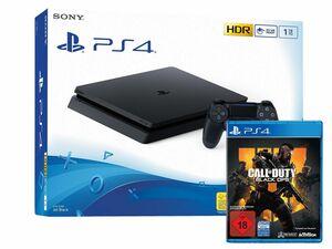 SONY Playstation 4 Slim - 1TB schwarz + CALL OF DUTY: BLACK OPS 4 PS4