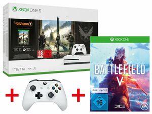 Microsoft Xbox One S 1TB Tom Clancy's: The Division 2 Bundle + MICROSOFT XBOX ONE S WIRELESS CONTROLLER WEIß + ELECTRONIC ARTS BATTLEFIELD V (XBOX ONE)