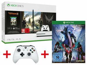 Microsoft Xbox One S 1TB Tom Clancy's: The Division 2 Bundle + MICROSOFT XBOX ONE S WIRELESS CONTROLLER WEIß + CAPCOM DEVIL MAY CRY 5 (XBOX ONE)