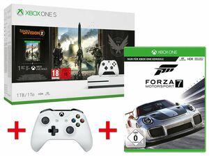 Microsoft Xbox One S 1TB Tom Clancy's: The Division 2 Bundle + MICROSOFT XBOX ONE S WIRELESS CONTROLLER WEIß + MICROSOFT FORZA MOTORSPORT 7 - STANDARD EDITION (XBOX ONE)