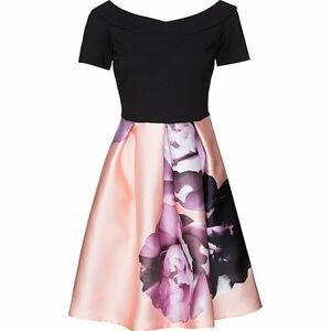 She Damen Kleid mit Blumenprint, Kurzarm