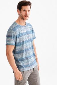 Angelo Litrico         T-Shirt - Bio-Baumwolle - gestreift