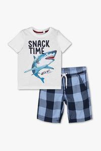 Palomino         Set - Kurzarmshirt und Shorts - Bio-Baumwolle - 2 teilig