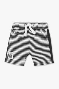 Baby Club         Baby-Shorts - Bio-Baumwolle - gestreift