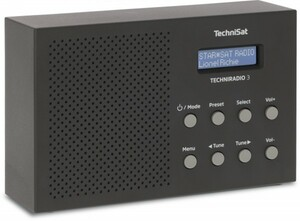TechnisSat Techniradio 3, DAB+, UKW ,  schwarz
