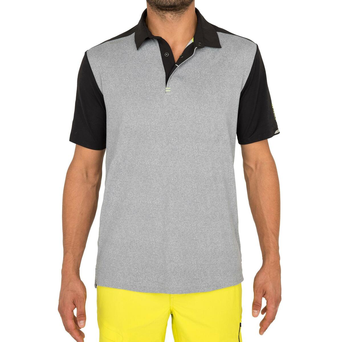 Bild 3 von Poloshirt kurzarm Segeln Race Herren grau meliert