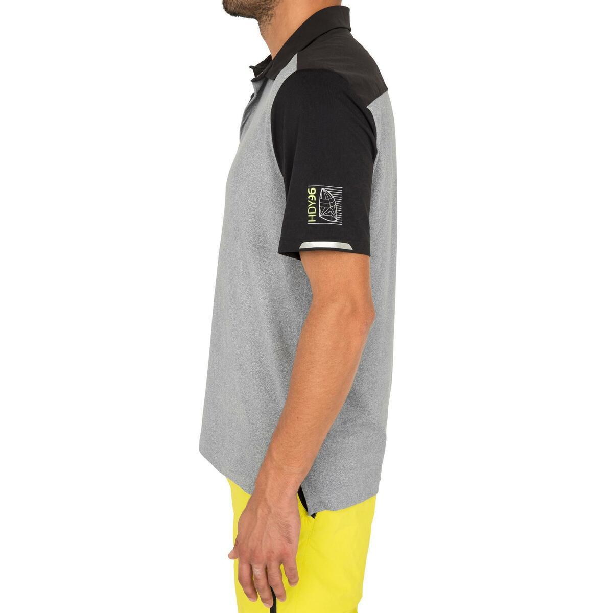 Bild 4 von Poloshirt kurzarm Segeln Race Herren grau meliert
