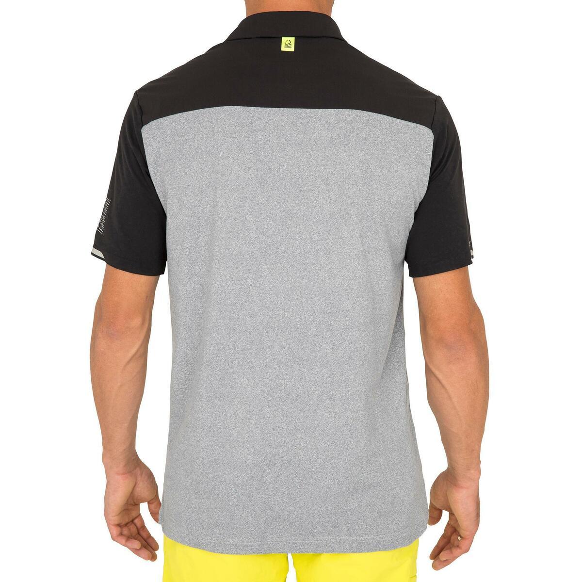 Bild 5 von Poloshirt kurzarm Segeln Race Herren grau meliert