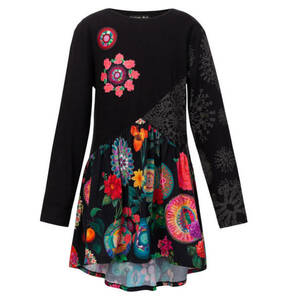 Desigual             Kleid, floral, Mustermix, für Mädchen